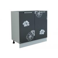 Грация  шкаф под мойку 800 мм с дверьми, цветы