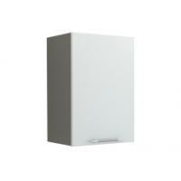 Грация Навесной шкаф 400 мм с дверцей, белый металлик