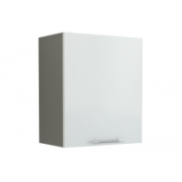 Грация Навесной шкаф 500 мм с дверцей, белый металлик