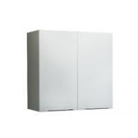 Грация Навесной шкаф 600 мм с дверями, белый металлик