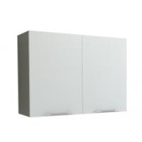 Грация Навесной шкаф 800 мм с дверями, белый металлик
