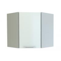 Грация  шкаф Угловой 600*600 мм с дверцей, белый металлик