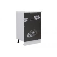 Грация шкаф 500 мм с дверью и ящиком, цветы