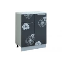 Грация шкаф 600 мм с дверью и ящиком, цветы