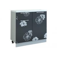 Грация шкаф 800 мм с дверью и ящиком, цветы