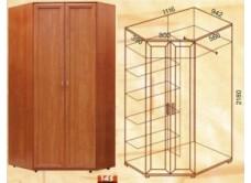 Шкаф угловой М-145