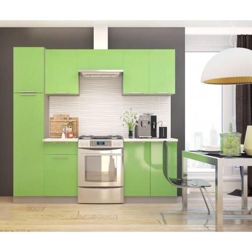 """Кухня """"Премьера"""" 2,0 м (модульная система) зеленый фасад"""