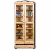Шкаф из массива сосны 2-х дверный Норд 113 для книг