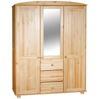 Шкаф из массива сосны для одежды 3-х ств. Иманта 280 с зеркалом