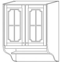 """""""СКАЙДА 1"""" шкаф 80 навесной (2 двери стекло)"""
