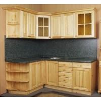 Кухня Скайда-2 из массива сосны модульная система