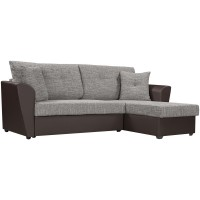 """Угловой диван """"Амстердам"""" , рогожка/ экокожа"""