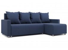"""Угловой диван """"Челси""""  темно-синий"""