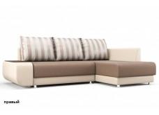 """Угловой диван """"Бруно"""" бежево-коричневый"""