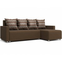 """Угловой диван """"Челси"""" коричневый"""