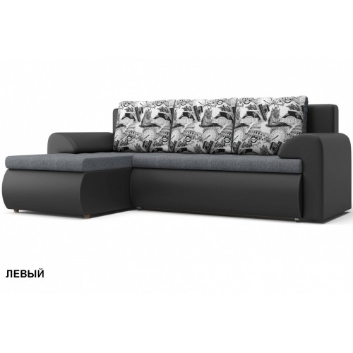 """Угловой диван """"Цезарь"""" серый"""