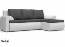 """Угловой диван """"Цезарь"""" серо-белый"""