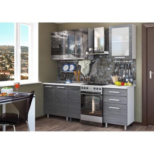 Кухонный гарнитур с фотопечатью «Лондон» 1,6 м