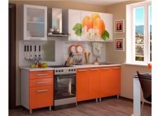 Кухонный гарнитур с фотопечатью «Персик» 1,8