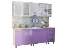 Кухонный гарнитур с фотопечатью «Акварель» 2,0 м Люкс