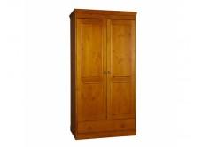 Шкаф из массива сосны 2-ств комбинированный, WoodStock