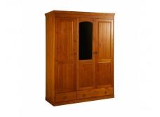 Шкаф  из массива сосны 3-ств комбинированный Дания, WoodStock