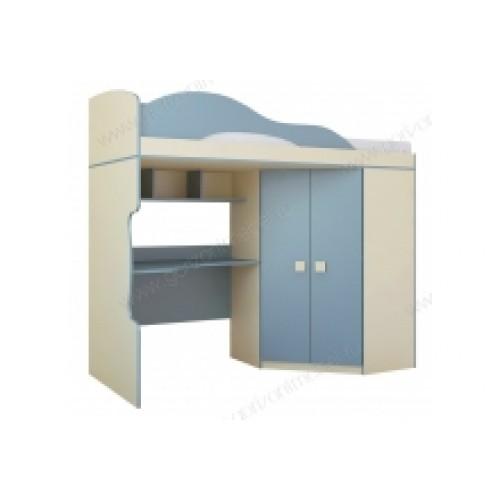 Радуга Кровать 2 этаж + шкаф