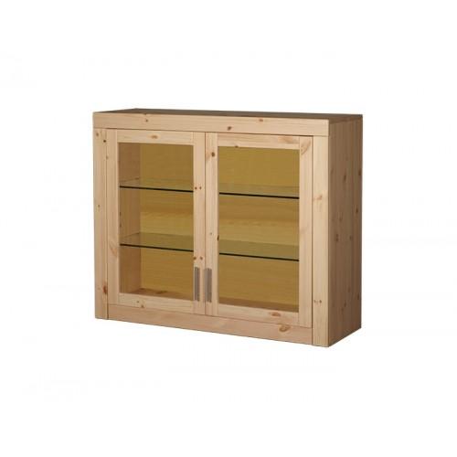 Стеллаж №2 (двери стекло) Брамминг, WoodStock