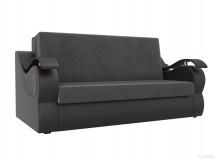 Прямой диван Меркурий Серый/черный
