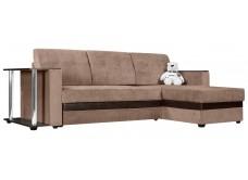 """Угловой диван """"Атланта""""светло-коричневый ,вельвет"""