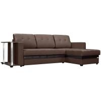 """Угловой диван """"Атланта"""" коричневый ,рогожка"""
