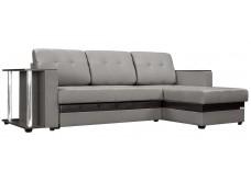 """Угловой диван """"Атланта"""" серый,рогожка"""