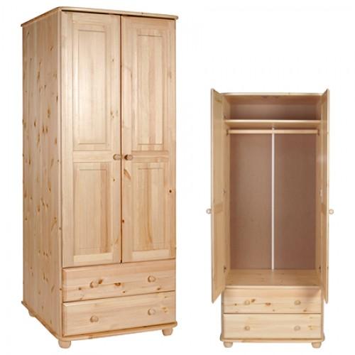 Шкаф из массива сосны для одежды Норд 122