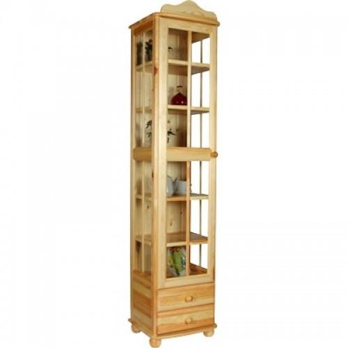 Шкаф из массива сосны 1-о дверный Норд 132 для посуды