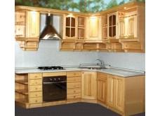 Кухня Скайда-1 из массива сосны модульная система