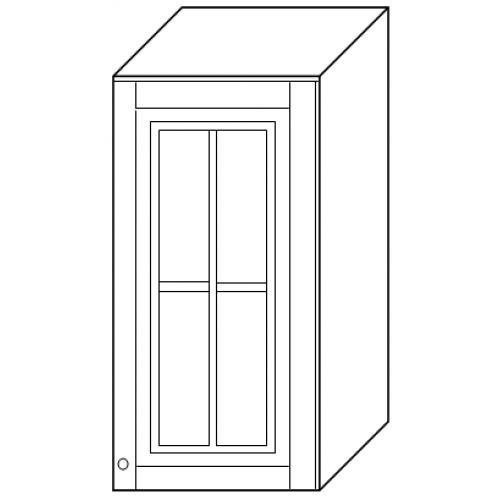 """""""Скайда2""""шкаф40 навесной (1 дверь стекло) высота720"""