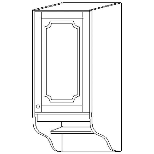 """""""СКАЙДА 1"""" шкаф 30 навесной (1 дверь дерево)"""