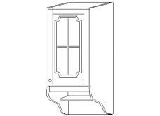 """""""СКАЙДА 1"""" шкаф 40 навесной (1 дверь стекло)"""