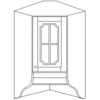 """""""Скайда 1"""" шкаф угловой навесной 60 ( 1 дверь стекло)"""