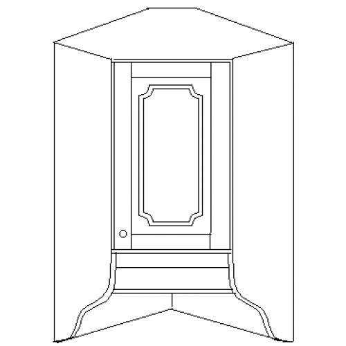 """""""Скайда 1"""" шкаф угловой навесной 60 ( 1 дверь дерево)"""