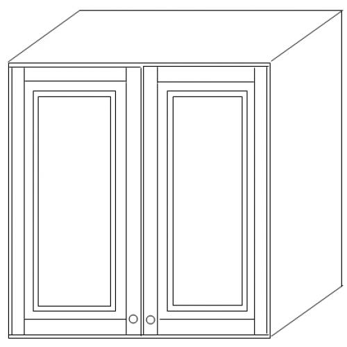 """""""Скайда2""""шкаф60 навесной (2 двери дерево) высота720"""