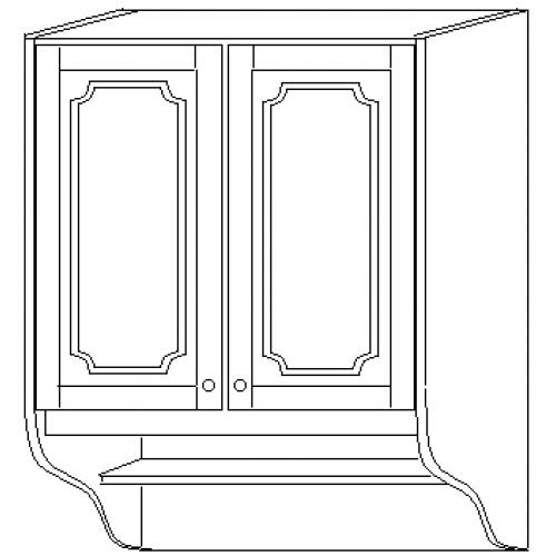 """""""СКАЙДА 1"""" шкаф 80 навесной (2 двери дерево)"""
