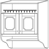 """""""СКАЙДА 1"""" шкаф 80 навесной (2 двери дерево) с нишей"""