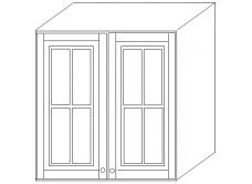 """""""Скайда2""""шкаф80 навесной (2двери стекло) высота724"""