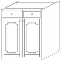 """""""Скайда 1,2 """" Тумба 60  (2 двери+ящик)"""