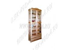 Шкаф из массива сосны 2-х дверный Норд 133 для посуды