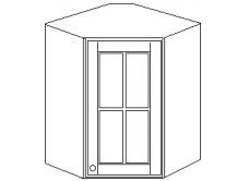 """""""Скайда2""""шкаф угл. навесн.60(1 дверь стекло) высота990"""