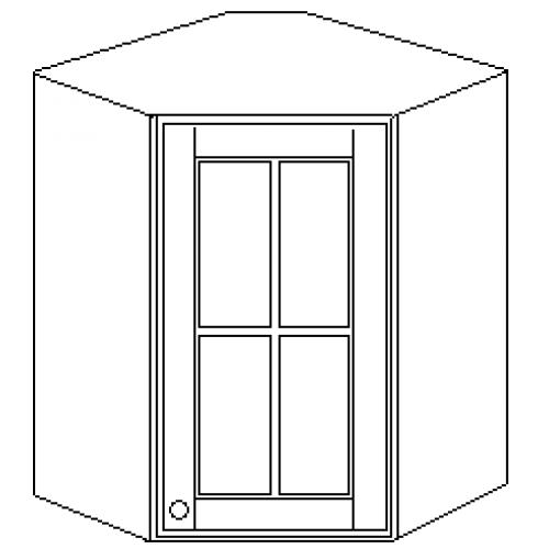 """""""Скайда2""""шкаф угл. навесн.60(1 дверь стекло) высота720"""